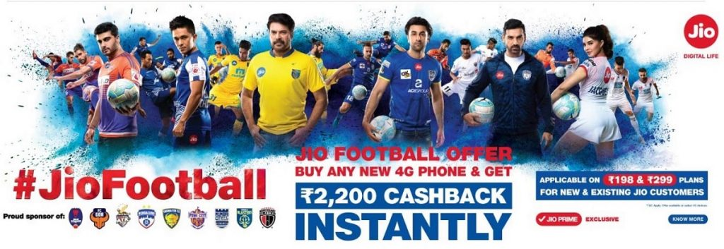 owner of Jio India Reliance Jio Infocomm - football offers