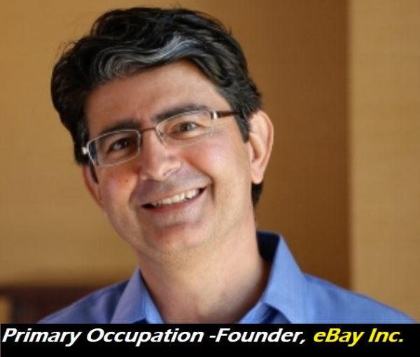 owner of eBay - Primary Occupation- Founder, eBay Inc
